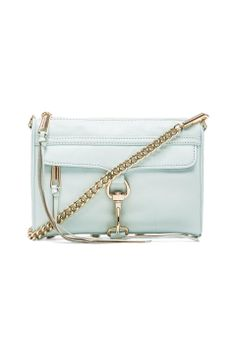 Rebecca Minkoff Mini Mac Crossbody in Light Turq