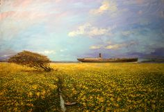 Dos Barcos Landscape Paintings, Vineyard, Golf Courses, Illustration, Outdoor, Pintura, Art, Bicycle Kick, Boats
