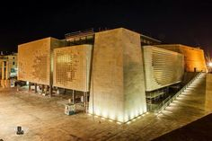 The new Parliament Buildings by Renzo Piano, Valletta, Malta.