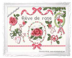 Rêve de rose fiche point de croix - annickabrial.net