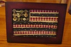 Scrappy framed flag with button
