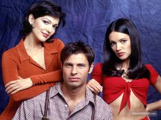 Sunset Beach Paula,Ricardo and Gabi Virginia, Eddie Cibrian, Movie Couples, Sunset Beach, Favorite Tv Shows, Leather Jacket, Memories, Actors, Soaps