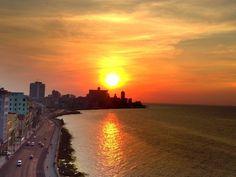 Sunset over Habana, Cuba #amazing #cuba #sunset #havana #havana