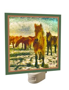 Winter Horse Team Night Light From Doggylips by DoggyLips on Etsy