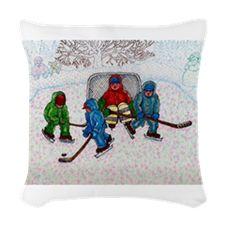 Boys Outdoor Hockey Woven Throw Pillow Hockey, Lunch Box, Throw Pillows, Boys, Outdoor, Baby Boys, Outdoors, Cushions, Decorative Pillows