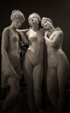 """The Three Graces""    Work of Jean-Jacques Pradier (1831) Musée du Louvre, Department of sculptures."