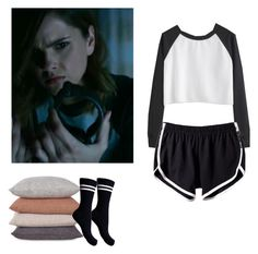 Malia Tate sleepwear - tw / teen wolf by shadyannon on Polyvore featuring polyvore fashion style Pieces clothing