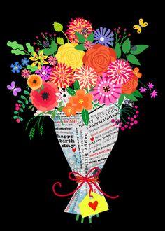 flowers in paper by Elisandra