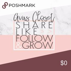 My First Follow Game! Lets Grow Together! After being on posh for three years, I am so thankful for how much this closet has grown and its all thanks to you guys!  Let's play a follow game and spread all the love and shares so ALL of our closets can continuously grow!   Share and follow anyone who has like this post to grow as a group! Tag your friends, family, and hey - even your pet! Thank you so much for all your shares and love! <3   Much Love,  Ava Other