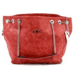 Andrew Charles Womens Handbag Red KIARA daaeaba96669e
