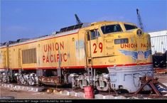 UP 29   Description:    Photo Date:  3/20/1977  Location:  Kansas City, MO   Author:  Jim Gavin  Categories:  Roster  Locomotives:  UP 29(8500 GTEL)