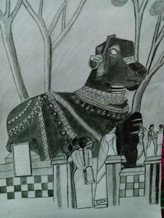 Sketch Nandi at karnataka