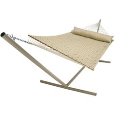 Medium image of pawleys island 82  l softweave antique beige double hammock