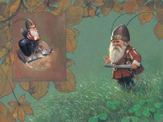 Viking Gnomie...  staying on guard so others can safely sleep.   artist ~Jean-Baptiste Monge -