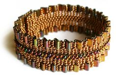 Ruffle Your Tila  Designed by Adele Kimpell (for sale $11.99USD ) ~ Seed Bead Tutorials