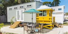 Stay in a Tiny House Hotel and Vacation Rentals near the #1 best beach in the United States of America - Siesta Key, Sarasota, Florida