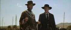 Clint Eastwood with Lee Van Cleef in For a Few Dollars More, the second of the Dollars trilogy.