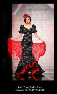 Atelier Rima. Simof 2015. Moda flamenca Flamenco Costume, Flamenco Dancers, Dance Costumes, Flamenco Dresses, Ethnic Fashion, Colorful Fashion, Spanish Dress, Spanish Woman, Spanish Fashion