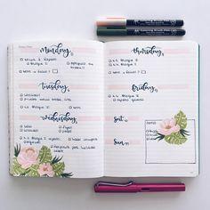 """1,673 Me gusta, 13 comentarios - Bullet Journal & Studygram (@mylittlejournalblog) en Instagram: """"Buuuuuenos días de lunes! Semana más que planificada y al lío!  café triple, por favor! ☕️"""""""