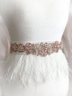Wedding Belts, Boho Wedding, Wedding Stuff, Wedding Ideas, Wedding Dresses, Wedding Dress With Feathers, Feather Fashion, Eclectic Wedding, Ribbon Belt