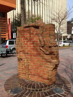 Brick Sculpture by Brad Spencer Spencer, Form Design, Carolina Do Norte, North Carolina, Chicken Wire Art, Brick Material, Brick Works, Brick Art, Architectural Materials