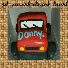 3d monster truck taart