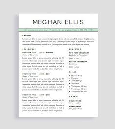 Free Resume Templates For Pages Captivating Resume Template  Made To Order Header  Instant Download  For