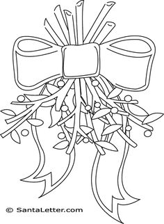 Day 5 - Christmas Mistletoe Coloring Pages