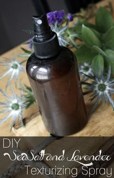 DIY Sea Salt and Lavender Texturizing Hair Spray- why not bring a little bit of the beach into your life.