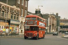 1983 and all the shops have closed for the new building development London Bus, West London, Building Development, Routemaster, Swinging London, Double Decker Bus, Bus Coach, London Transport, Vintage London