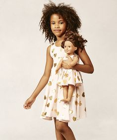 Look at this Little Gloriana Blush Gold Emma Dress & Doll Outfit on #zulily today!