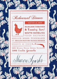 Southern weddings - country invitation