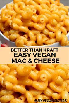 Vegan Vegetarian, Vegetarian Recipes, Cooking Recipes, Vegan Food, Diet Recipes, Best Mac N Cheese Recipe, Mac Cheese Recipes, Creamy Mac And Cheese, Vegan Mac And Cheese