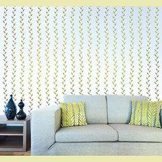leafy stripe stencil -- cutting edge stencils