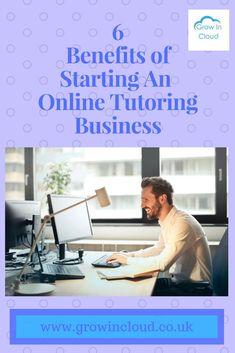 6 Benefits Of Starting An Online Tutoring Business.   #onlinetutoring #onlinetutor #tutor #tutoring #onlinebusiness #tutoringbusiness