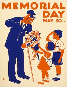 Memorial Day 1930's-40's. They are giving flowers to a Civil war vet.