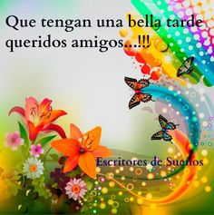 Buenas Tardes Good Night, Good Morning, Religious Quotes, Spanish Quotes, Daisy, Positivity, Flowers, Cards, Collage