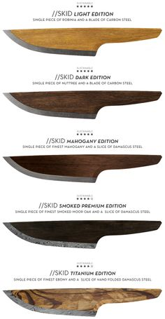 //SKID is the first wooden chef knife released from LIGNUM on Kickstarter. Every //SKID is made out of 97% wood and 3% high alloyed carbon steel. Stunning seamless and timeless design combined in a ecologically sustainable knife
