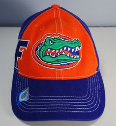 019ec971c3a Florida GATORS Embroidered Baseball Cap Hat by Russell Blue Orange NEW One  Size  Russell  FloridaGators
