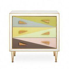 Harlequin Three-Drawer Chest by Jonathan Adler — The Modern Shop Small Dresser, Modern Dresser, 3 Drawer Chest, Chest Of Drawers, Storage Chest, Op Art, Painted Furniture, Modern Furniture, Furniture Ideas
