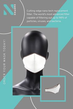 Nueton's four-layered, washable, reusable face masks with filter pocket and 6 Nano Filters. Order your mask today! #Nueton #facemasks #facecoverings #facemaskuk #adultfacemask