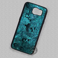 Vintage Collage Blue Nebula - Samsung Galaxy S7 S6 S5 Note 7 Cases & Covers