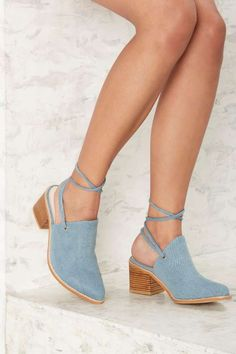 Intentionally Blank Button Denim Mule - What's New: Shoes