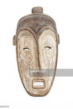 Stock Photo : African mask isolated on white background