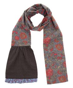 Another great find on #zulily! Gray & Blue Floral Patchwork Scarf #zulilyfinds