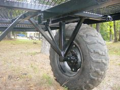 off road trailer axle idea, needs some actual suspension tho. Quad Trailer, Trailer Axles, Off Road Trailer, Trailer Plans, Trailer Build, Cargo Trailers, Camper Trailers, Atv Utility Trailer, Metal Projects