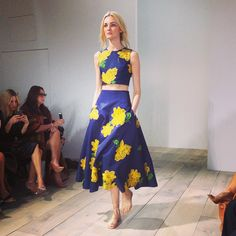 Gorgeous spring garden-inspired look from Michael Kors at NYFW.