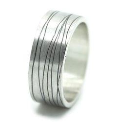 Gematteerde zilveren trouwring | Handgemaakt & Fairtrade | Nanini Jewelry | Handgemaakte Fairtrade Sieraden | Amsterdam
