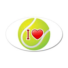 35x21 Oval Wall Vinyl Sticker I Love Tennis -- Find out more about the great product at the image link.