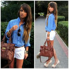 Noname Shorts, H&M Shirt, New Look Bag, Deezee.Pl Heels